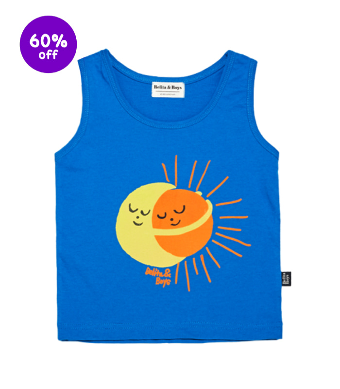 Sun and Moon Blue Tank top 60% SALE