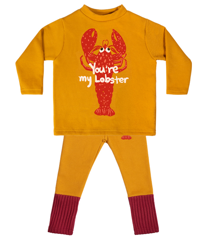 [SET] Yellow Lobster High-neck 58% SALE